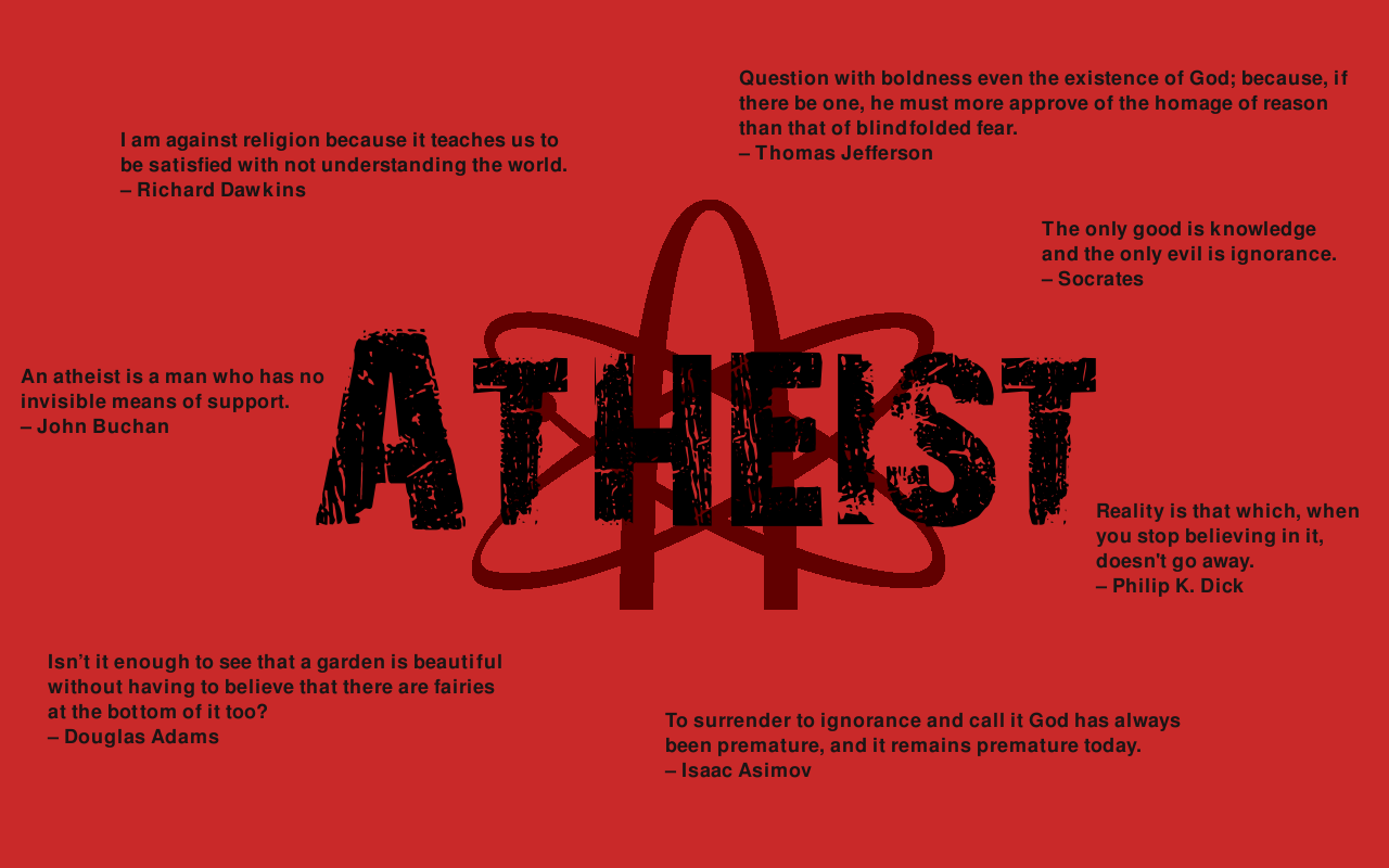 Atheist High Quality Wallpaper Desktop