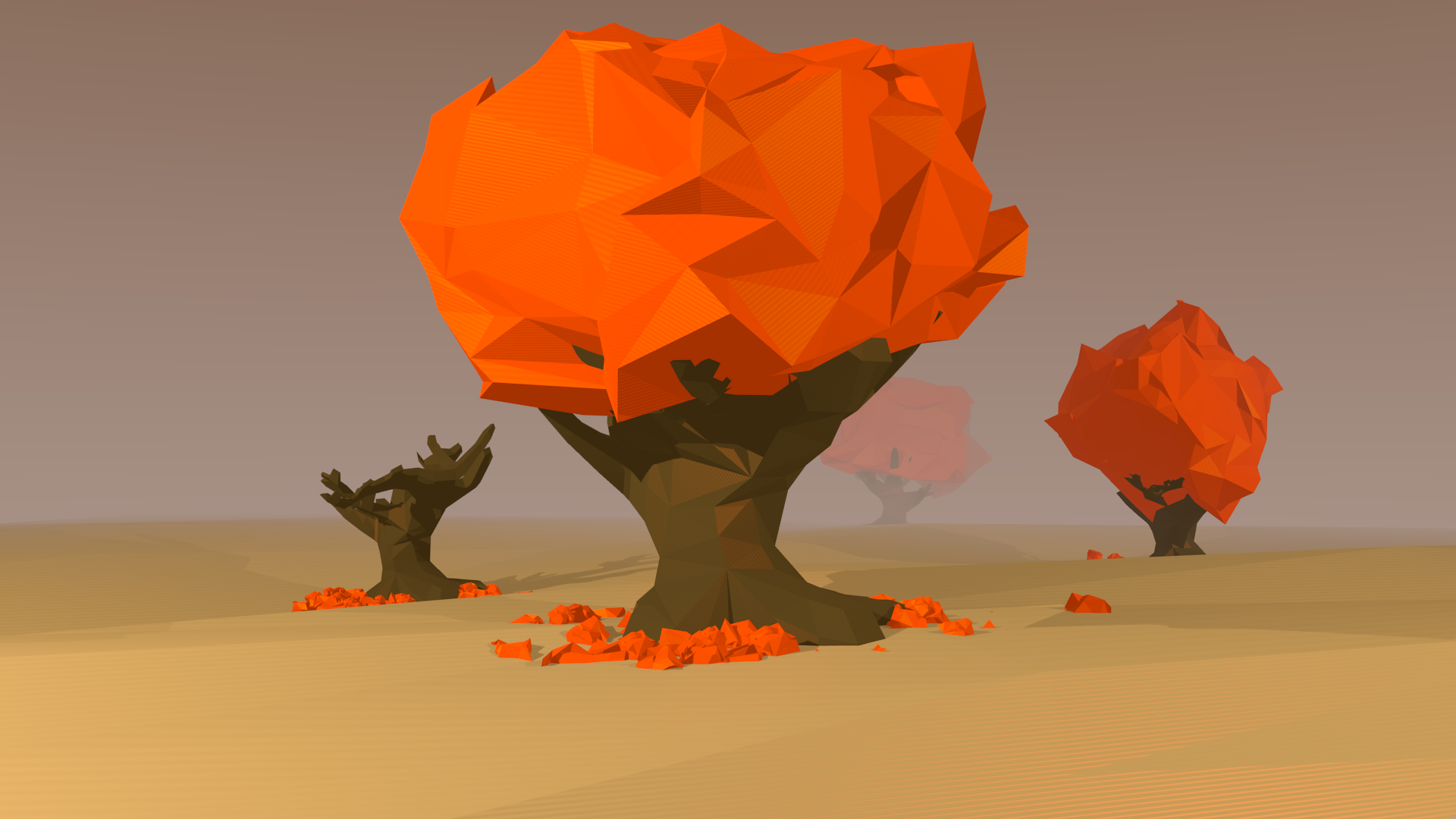 Low Poly HD Backgrounds for PC
