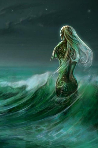 Mermaid Wallpaper by Rosamond Siegfried PC.28-UYX
