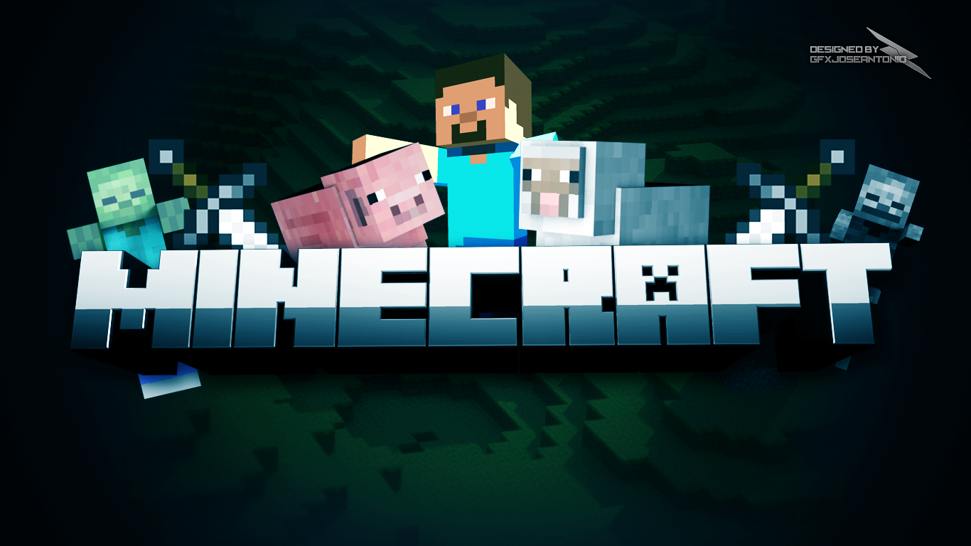 PC 1366x768 Minecraft Wallpaper, BsnSCB.com