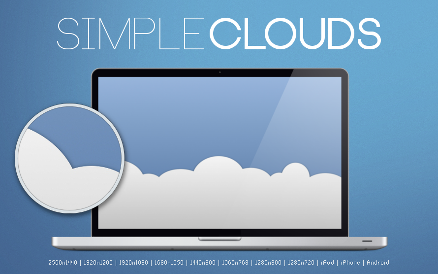 Simple Cloud Wallpaper 890x556