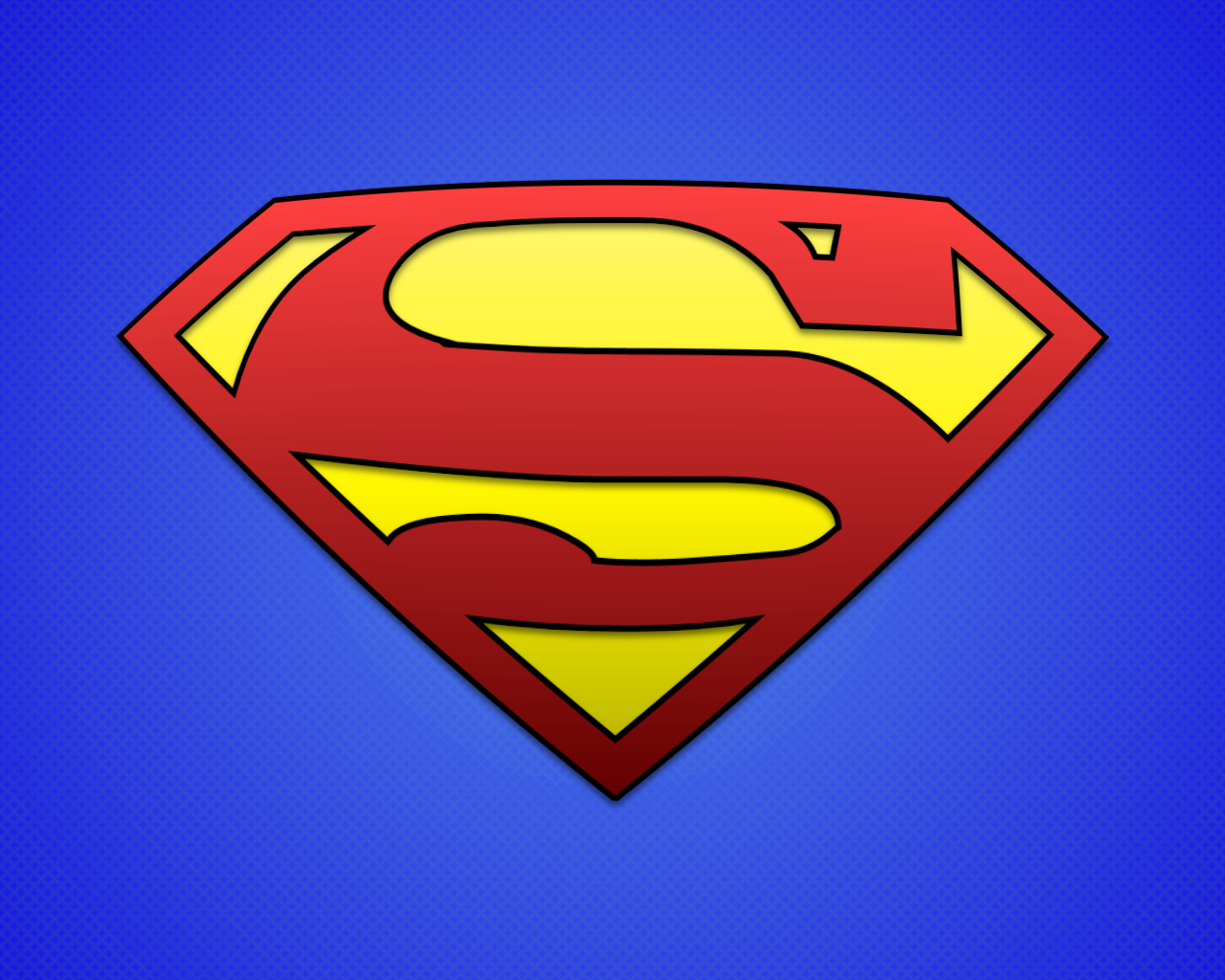 High Quality Image of Superman Logo | 1280x1024 px