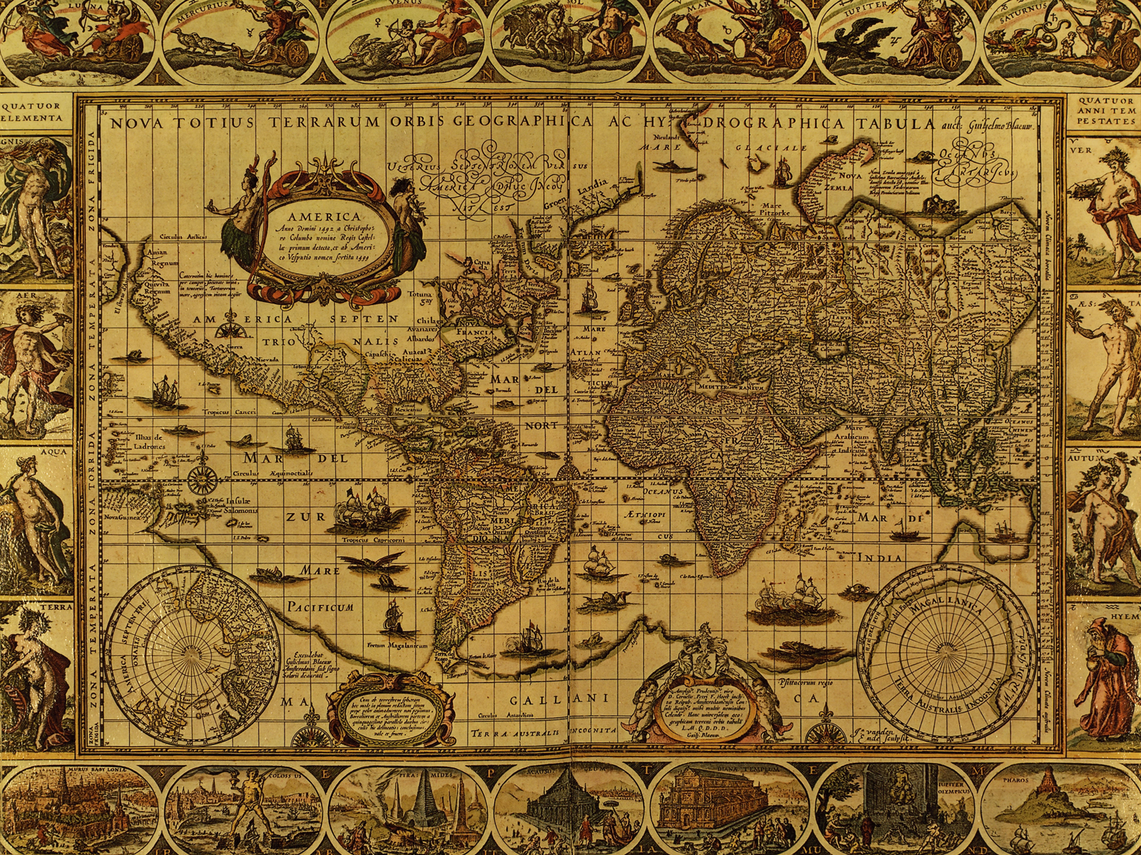 PC 1600x1200 px Vintage Maps Wallpaper, BsnSCB