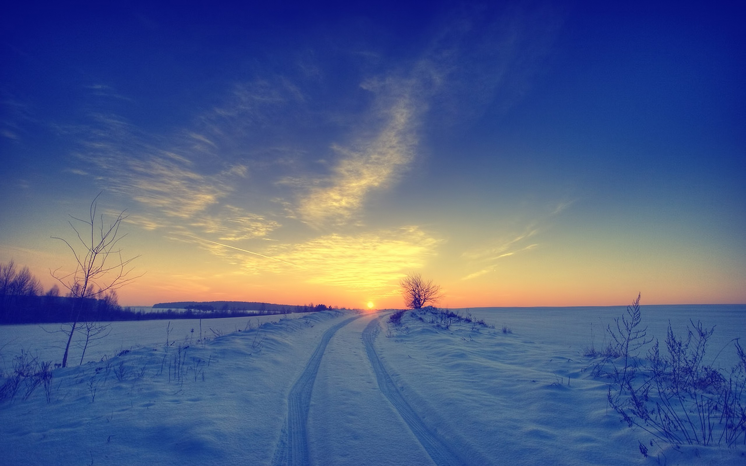File: Winter Sunset Full HD.jpg | Alena Beamon | 2560x1600 px