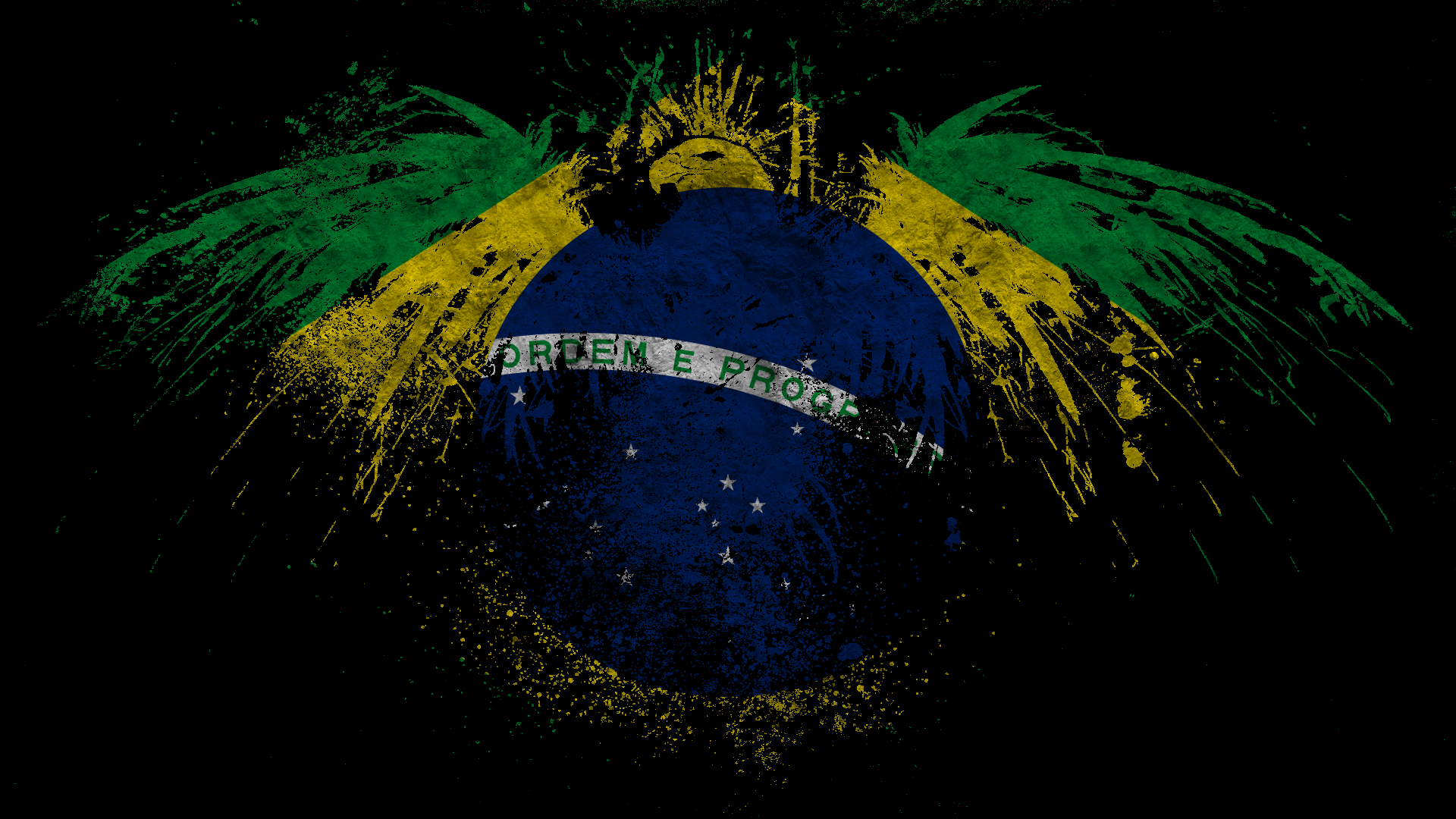 Brasil Flag Backgrounds (PC, Mobile, Gadgets) Compatible | 1920x1080 px