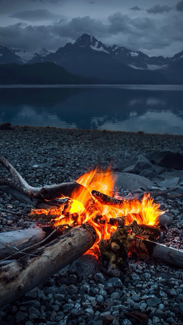 Campfire Wallpapers 640x1136 | B.SCB Wallpapers