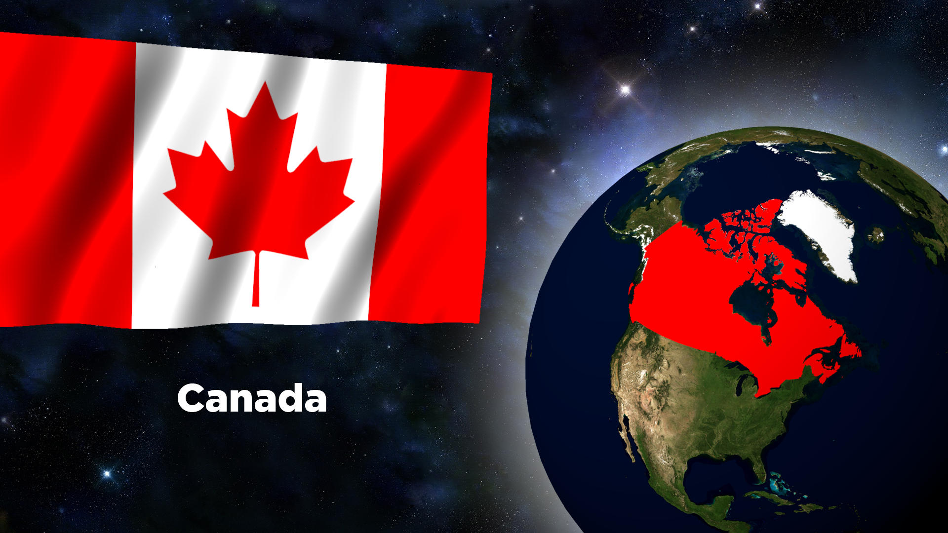 Canada Flag Backgrounds (PC, Mobile, Gadgets) Compatible | 1920x1080
