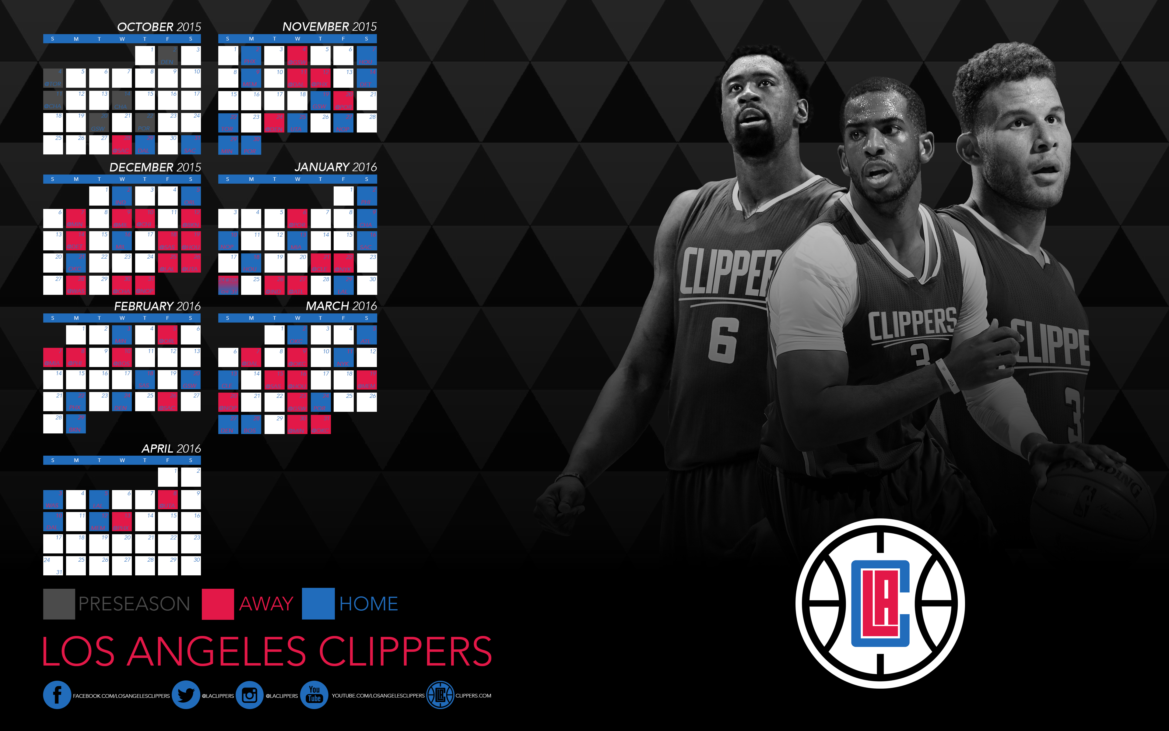 Clippers Wallpaper 3840x2400 px