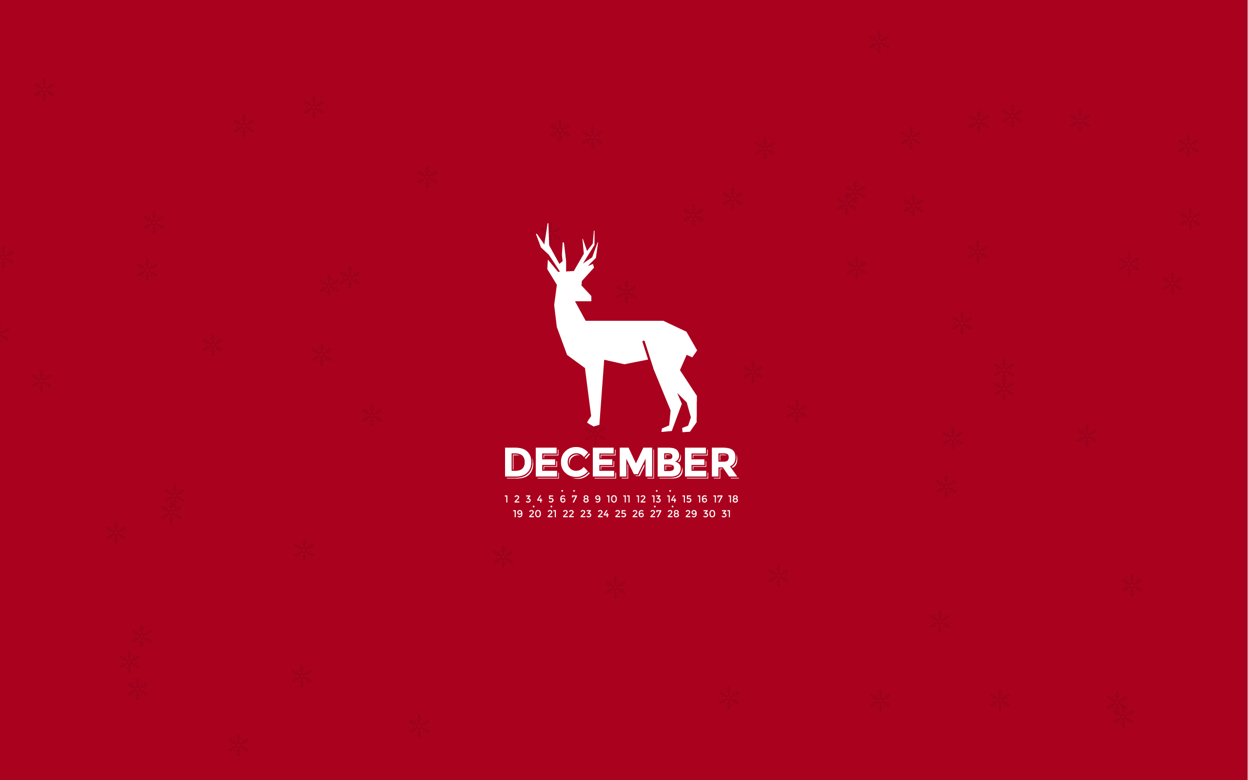 PC 2560x1600 December Wallpaper, BsnSCB Graphics