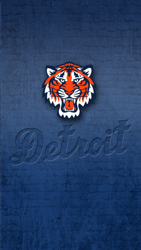 Desktop Backgrounds: Detroit Tigers, by Loralee Reynold, 600x1065 px