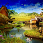 Adorable HDQ Backgrounds of Free Farm, 170x170