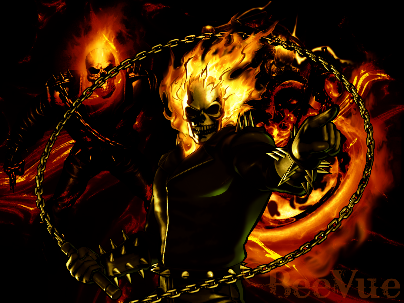 By Librada Foran - Ghost Rider Wallpapers, 1333x1000 px