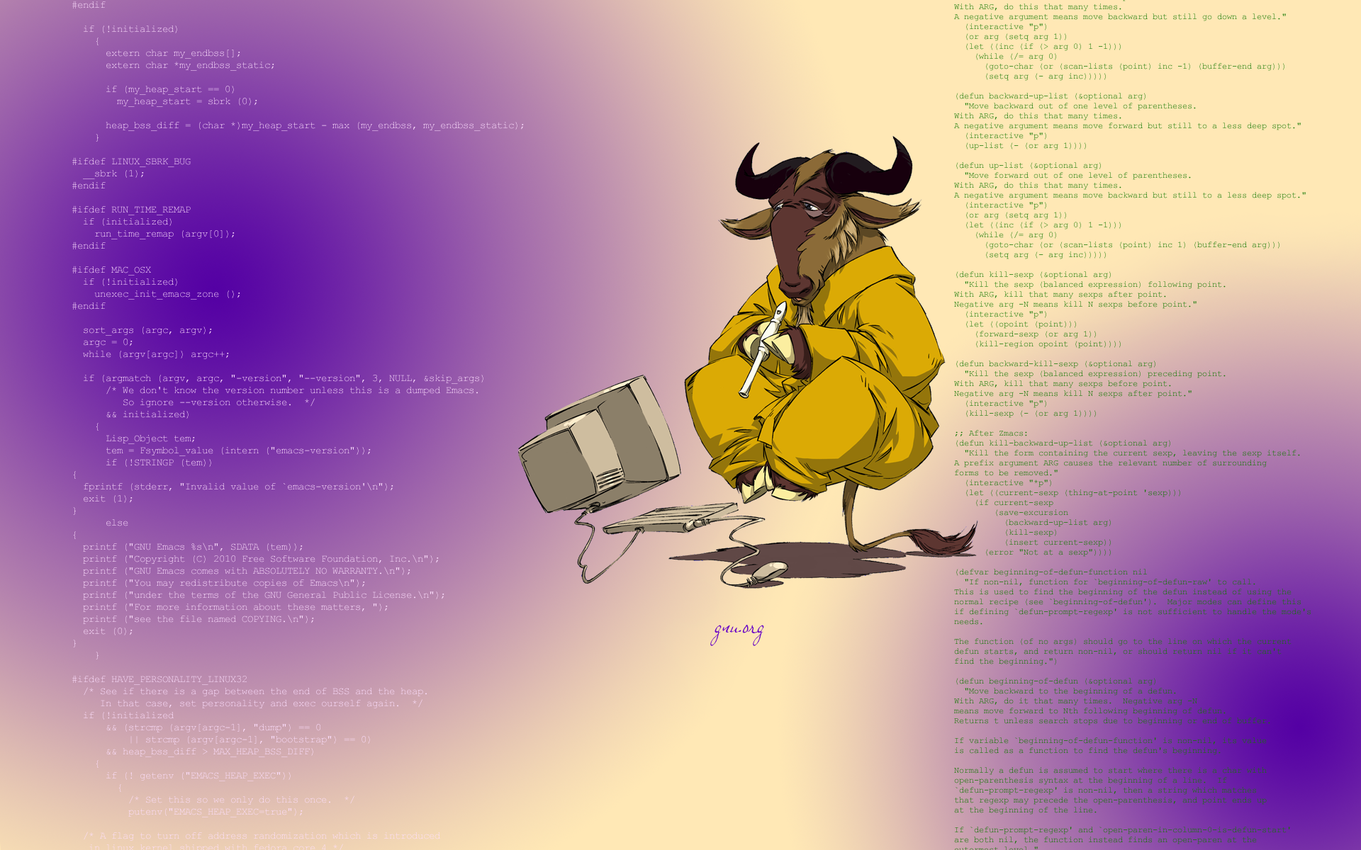 Wide HD Gnu Wallpaper | B.SCB Full HD