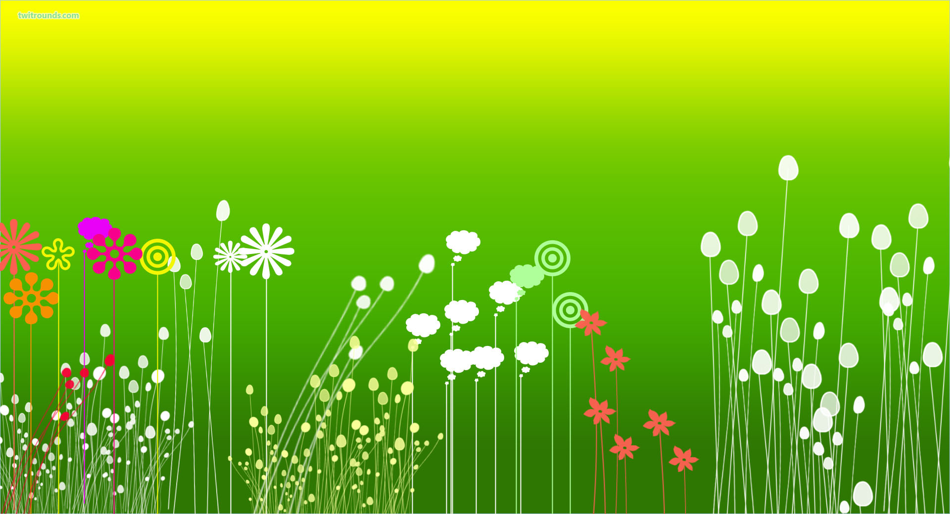 December 17, 2015 - Green Flowers (Backgrounds), 1920x1040
